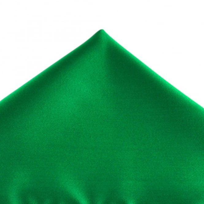 Plain Hunter Green Pocket Square Handkerchief