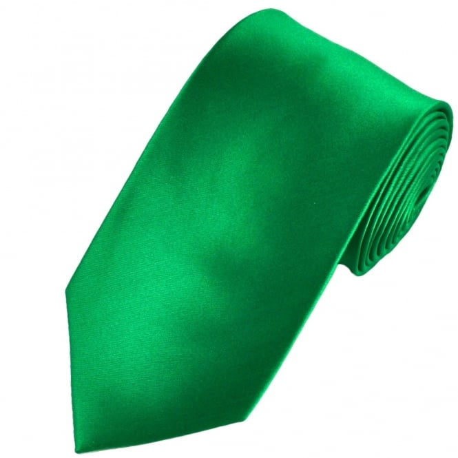 Plain Hunter Green Satin Tie