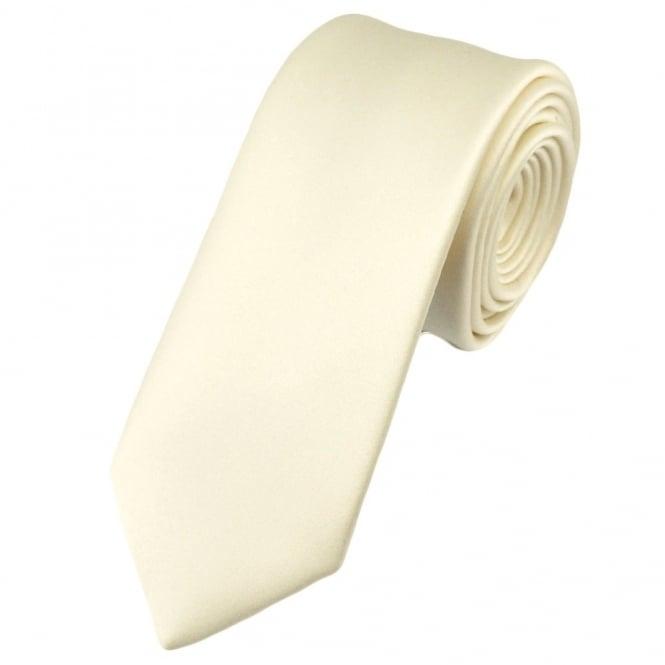 Plain ivory 6cm skinny tie from ties planet uk plain ivory 6cm skinny tie ccuart Choice Image