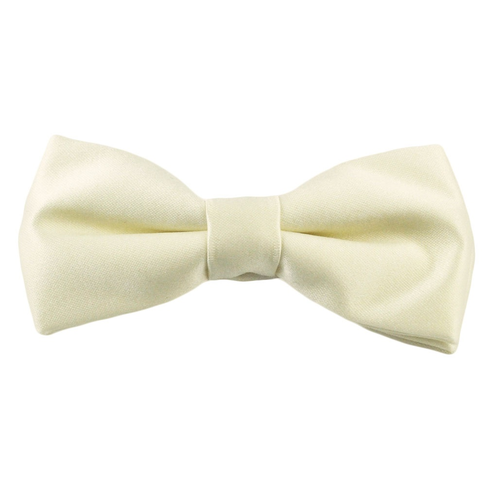 plain ivory boys bow tie from ties planet uk