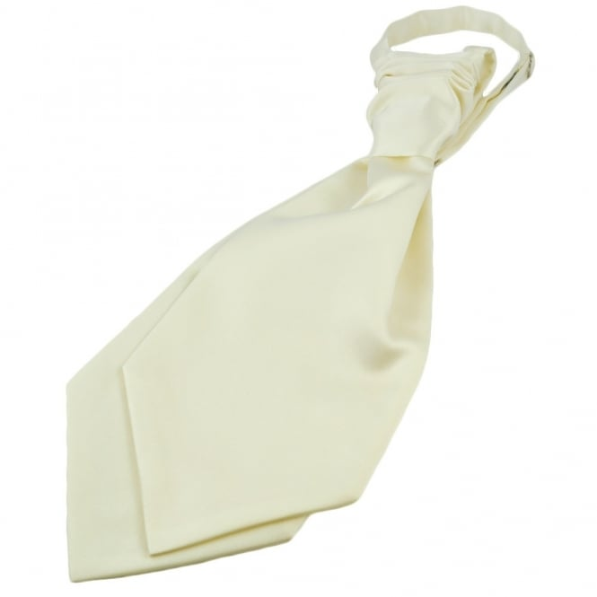 Plain Ivory Scrunchie Wedding Cravat