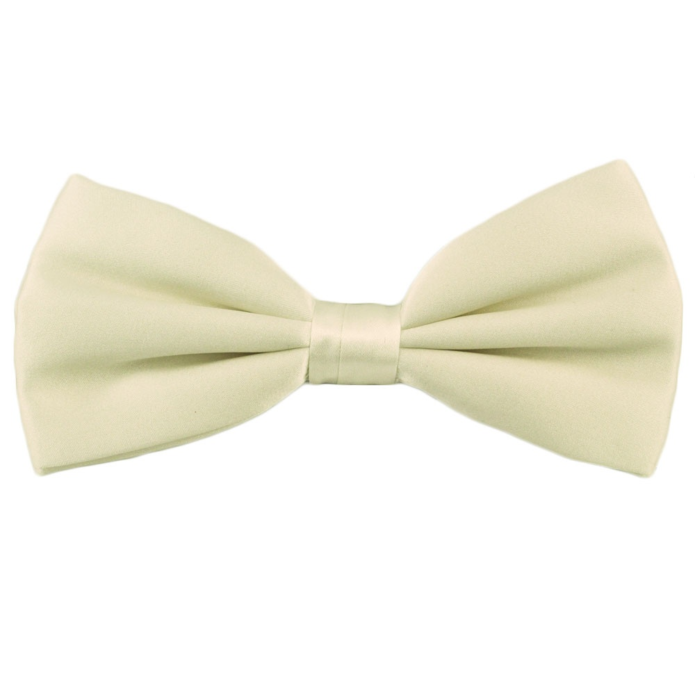 plain ivory silk bow tie from ties planet uk