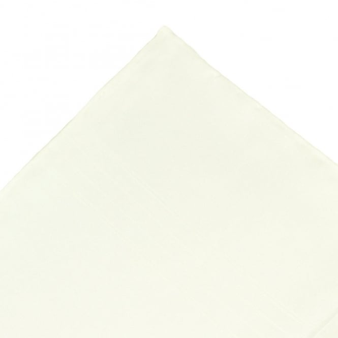 Plain Ivory Silk Pocket Square Handkerchief