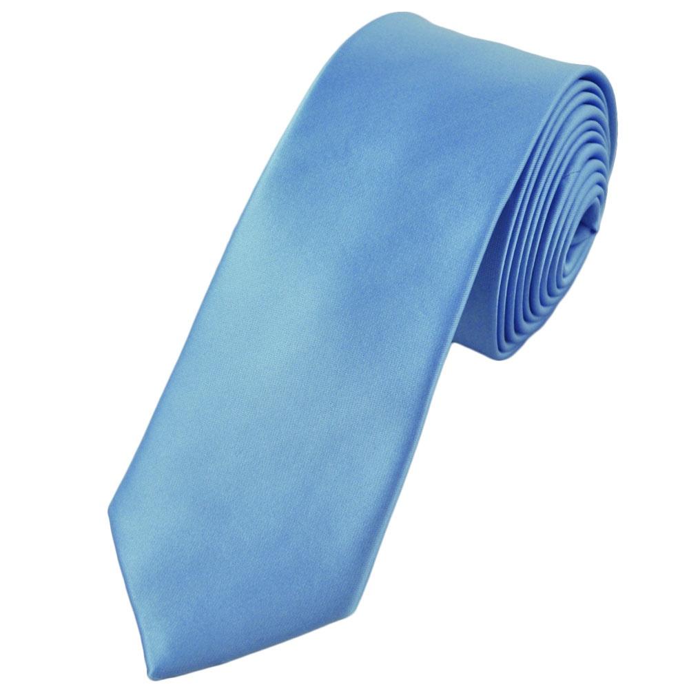 plain light blue 6cm narrow tie from ties planet uk