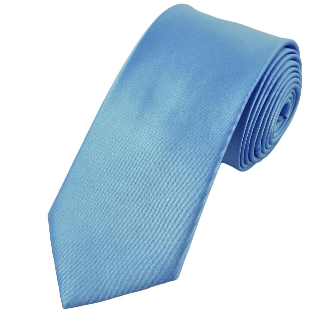 plain light blue 7cm narrow tie from ties planet uk