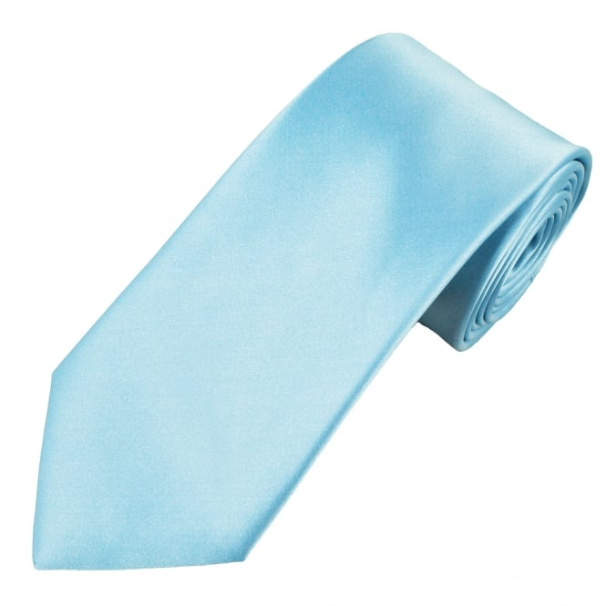 Plain Light Blue Men's Tie