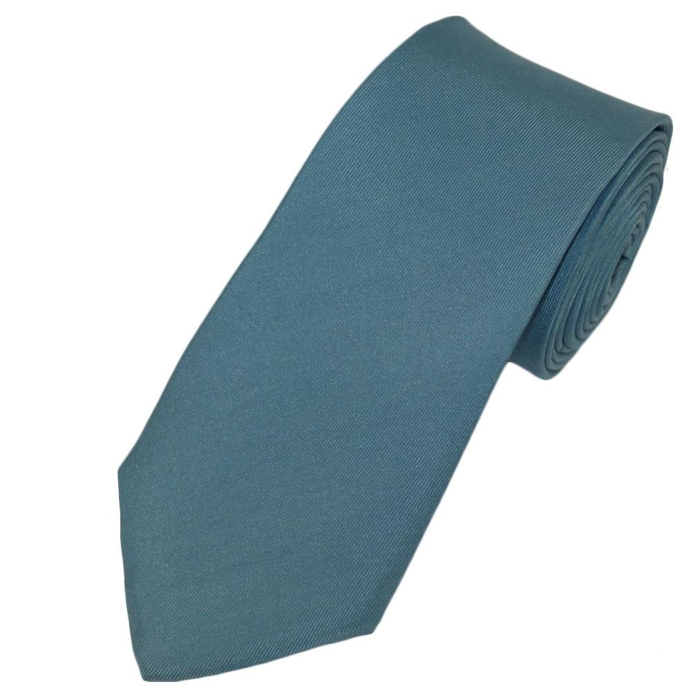 plain light blue narrow silk tie from ties planet uk