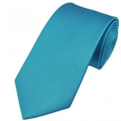 Plain Light Blue Silk Tie