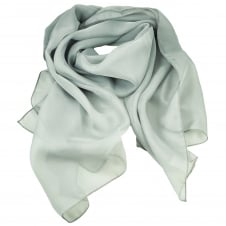 Plain Light Grey Chiffon Scarf