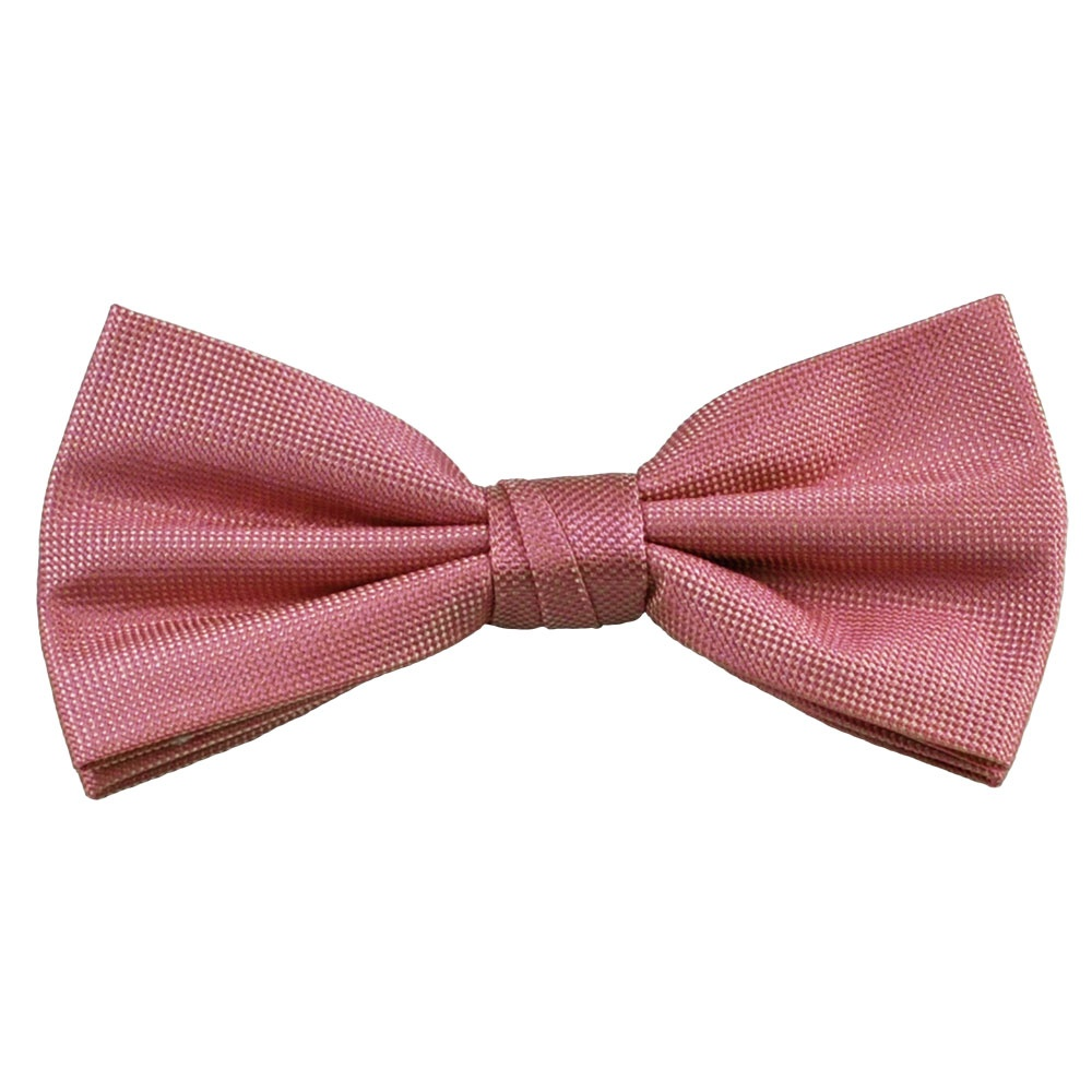plain light pink silk bow tie from ties planet uk