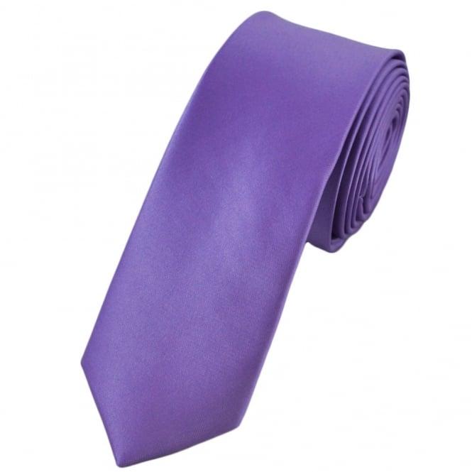 74a523db6166 Plain Light Purple Skinny Tie from Ties Planet UK