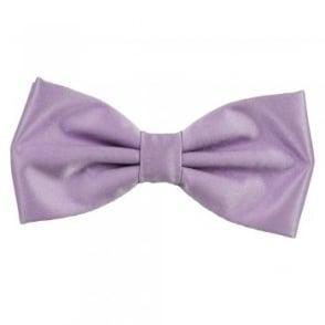 Plain Lilac Bow Tie