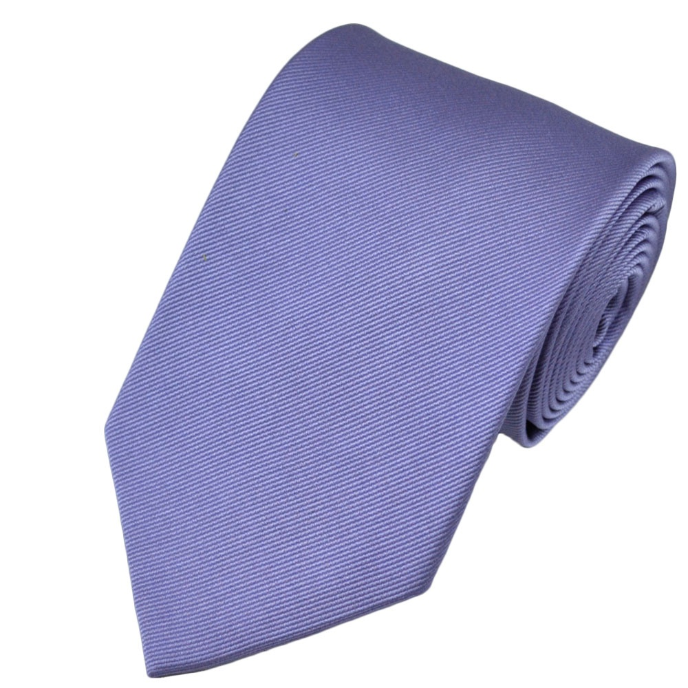 plain lilac ribbed silk tie from ties planet uk