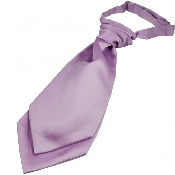 Plain Lilac Scrunchie Wedding Cravat