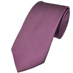 Plain Lilac Silk Tie