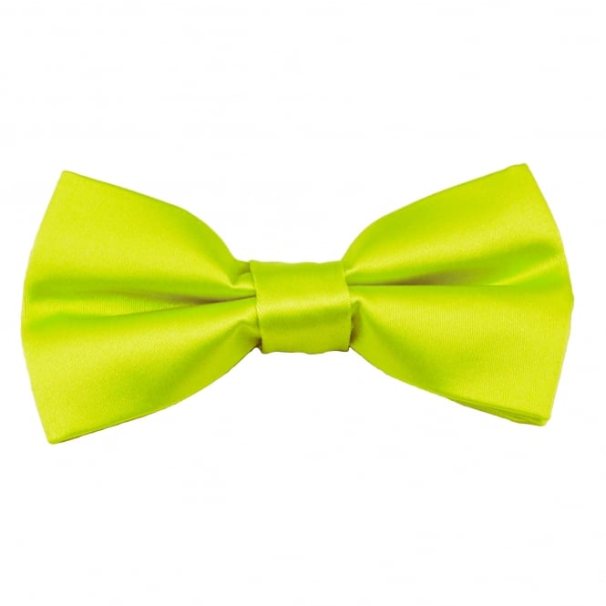 Plain Lime Green Boys Bow Tie