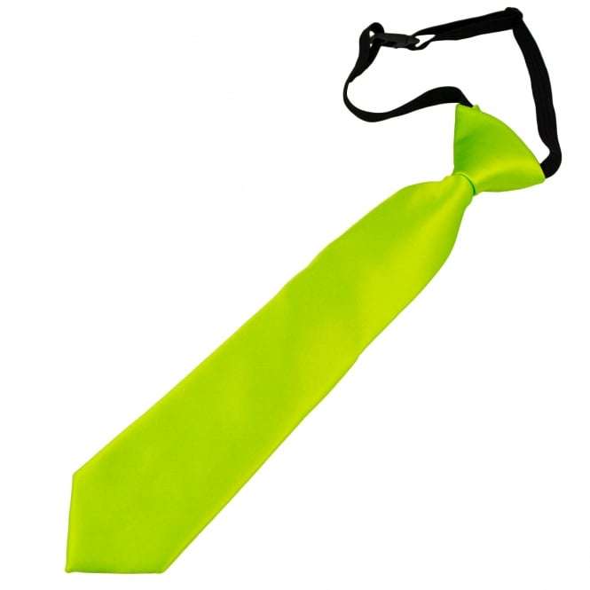 Plain Lime Green Boys Skinny Tie - 6 Months to 4 Years