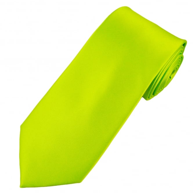 Plain Lime Green Extra Long Tie