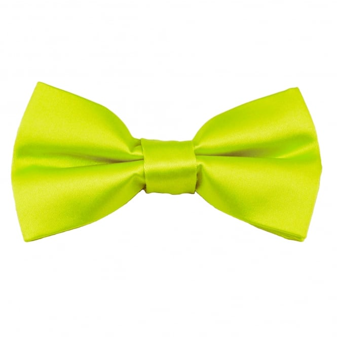 Plain Lime Green Men's Bow Tie