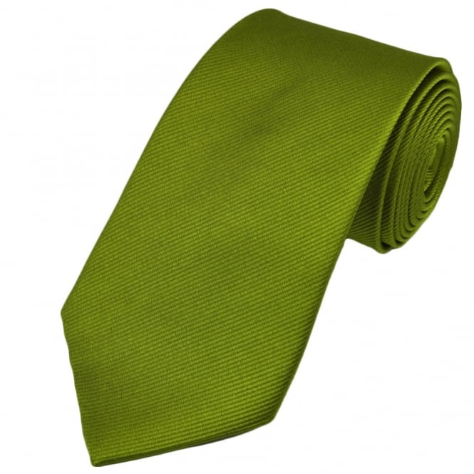 Plain Lime Green Silk Tie