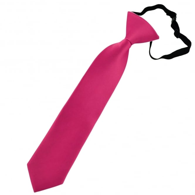 Plain Lipstick Pink Boys Skinny Tie - 6 Months to 4 Years