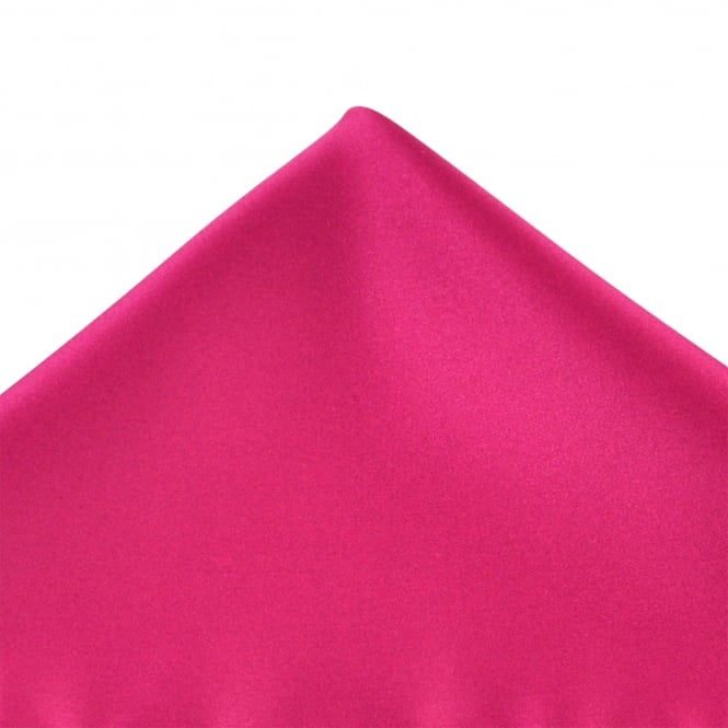 Plain Lipstick Pink Pocket Square Handkerchief