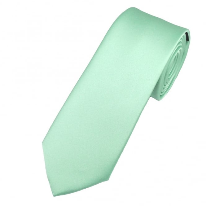 Plain Magic Mint 6cm Skinny Tie
