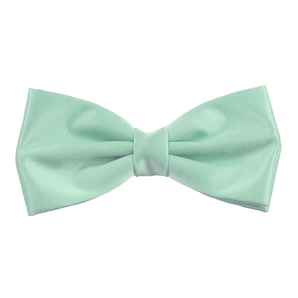 plain magic mint bow tie from ties planet uk