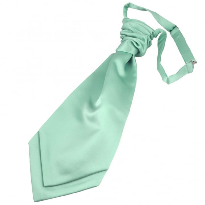 Plain Magic Mint Scrunchie Wedding Cravat