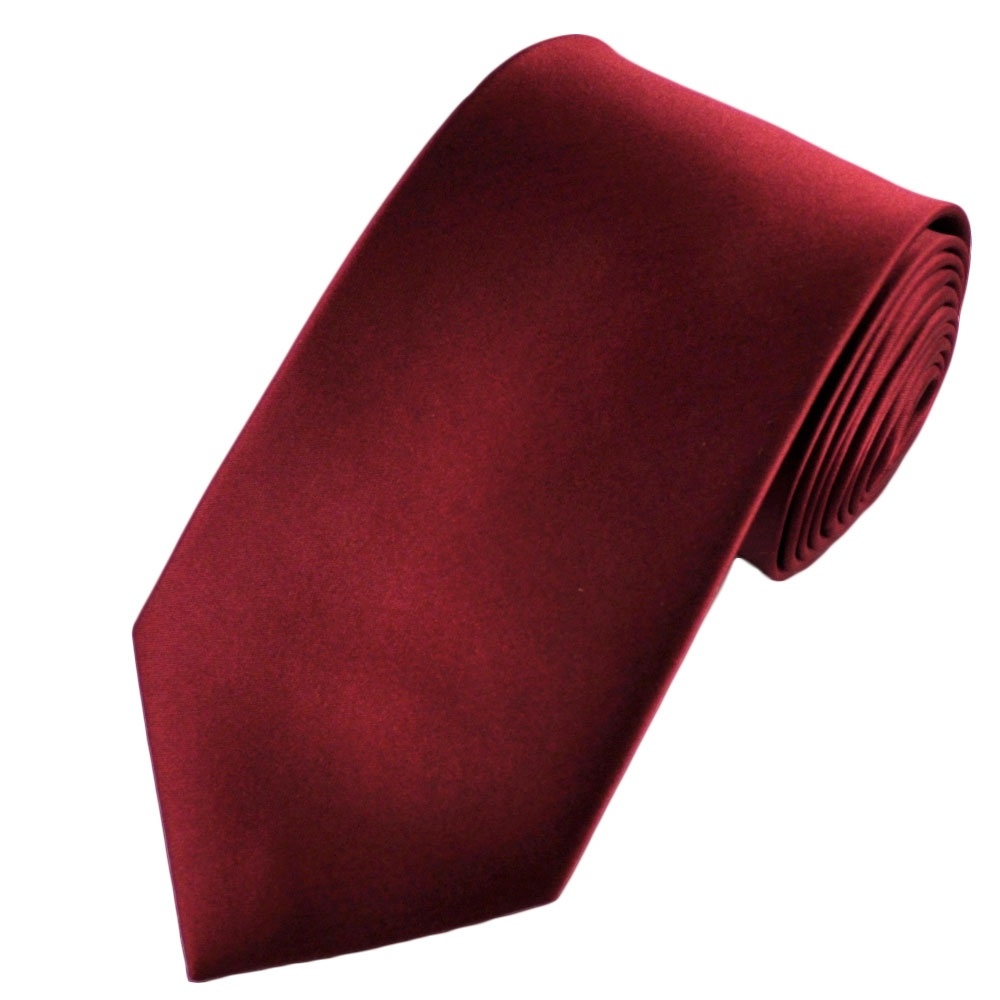 plain maroon satin tie from ties planet uk
