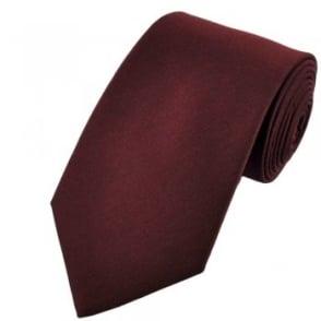 Plain Maroon Tie