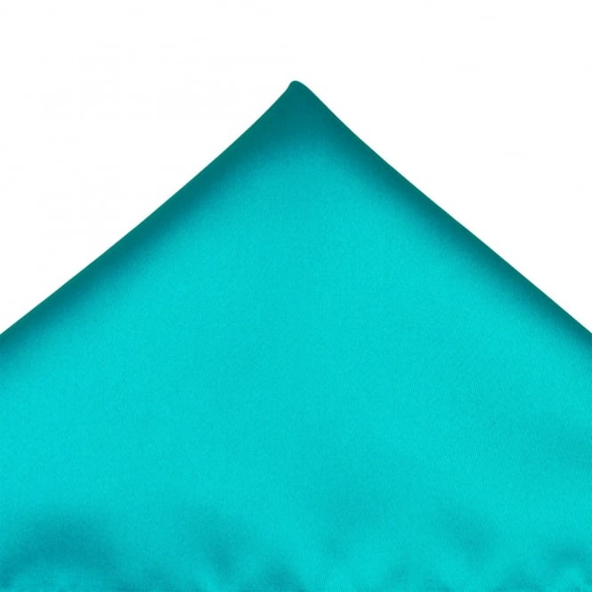 Plain Medium Turquoise Pocket Square Handkerchief