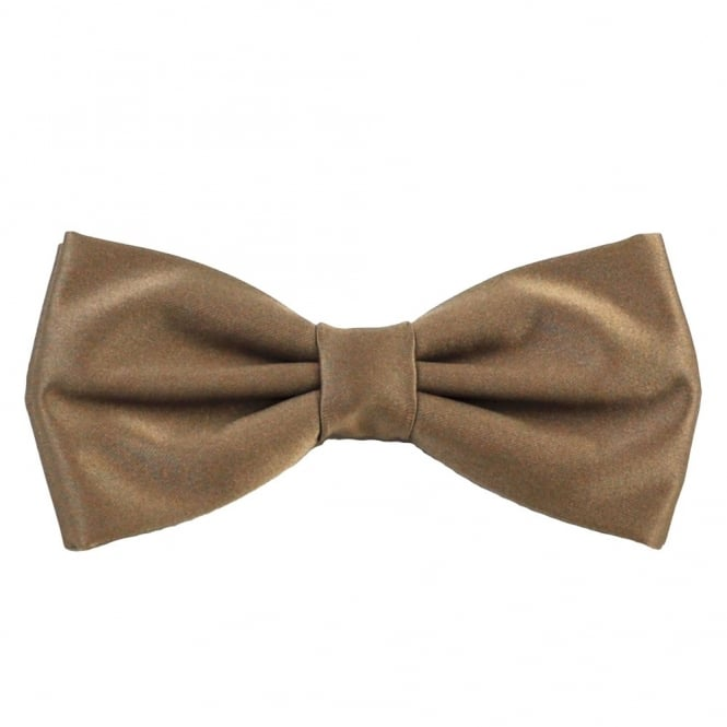 Plain Mid-Brown Bow Tie