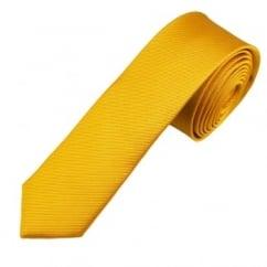 Plain MustardGold Silk Skinny Tie