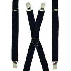 1a91bfffefb Plain Navy Blue Skinny Trouser Braces