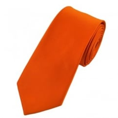 Plain Orange 7cm Narrow Tie