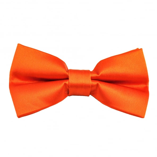Plain Orange Boys Bow Tie