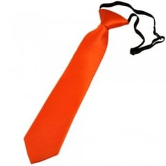 Plain Orange Boys Skinny Tie - 6 Months to 4 Years