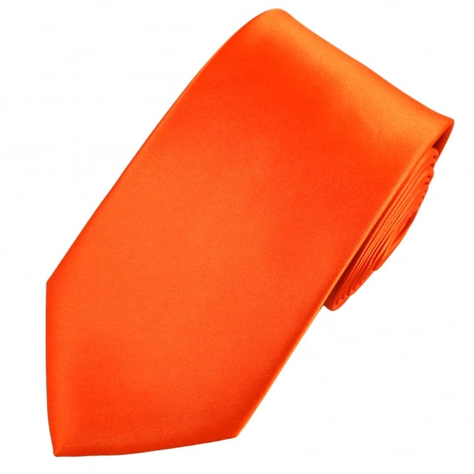Plain Orange Extra Long Tie