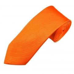 Plain Orange Men's Silk Tie