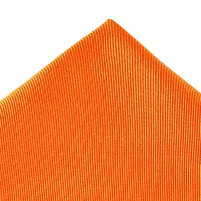 Plain Orange Silk Pocket Square Handkerchief