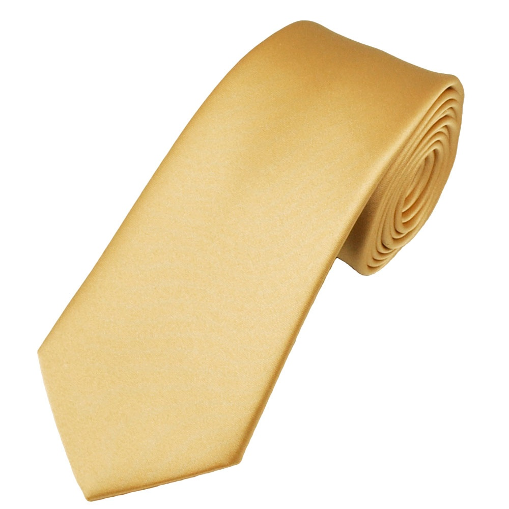 plain pale gold satin tie from ties planet uk
