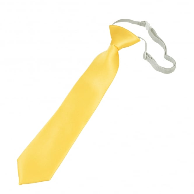 Plain Pale Lemon Yellow Boys Tie - 6 Months to 4 Years