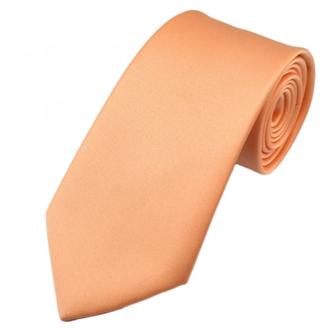Plain Peach Boys Tie