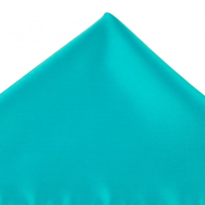 Plain Peacock Blue Handkerchief