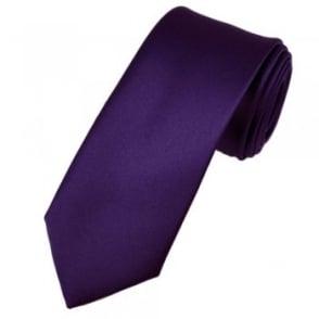 Plain Purple 6cm Skinny Tie