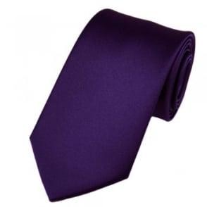 Plain Purple Boys Tie
