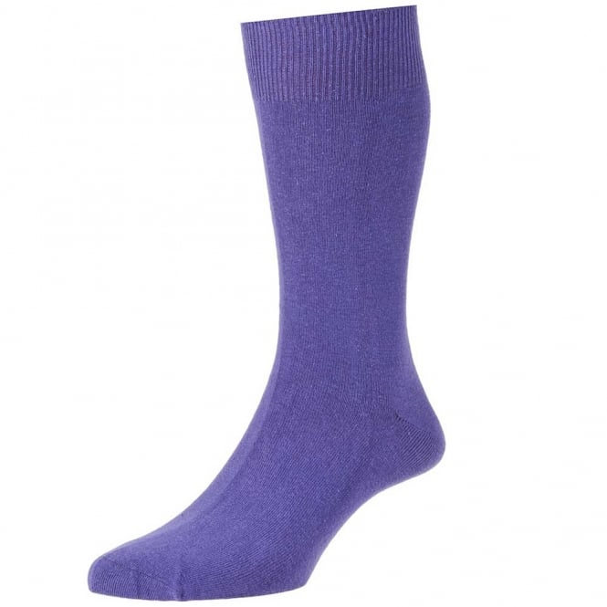 Plain Purple Men's Socks by HJ Hall