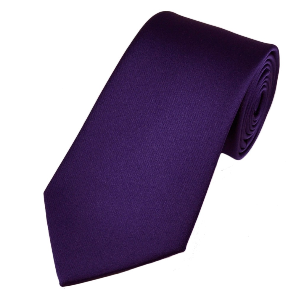 plain purple satin tie from ties planet uk