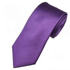 Plain Purple Silk Tie